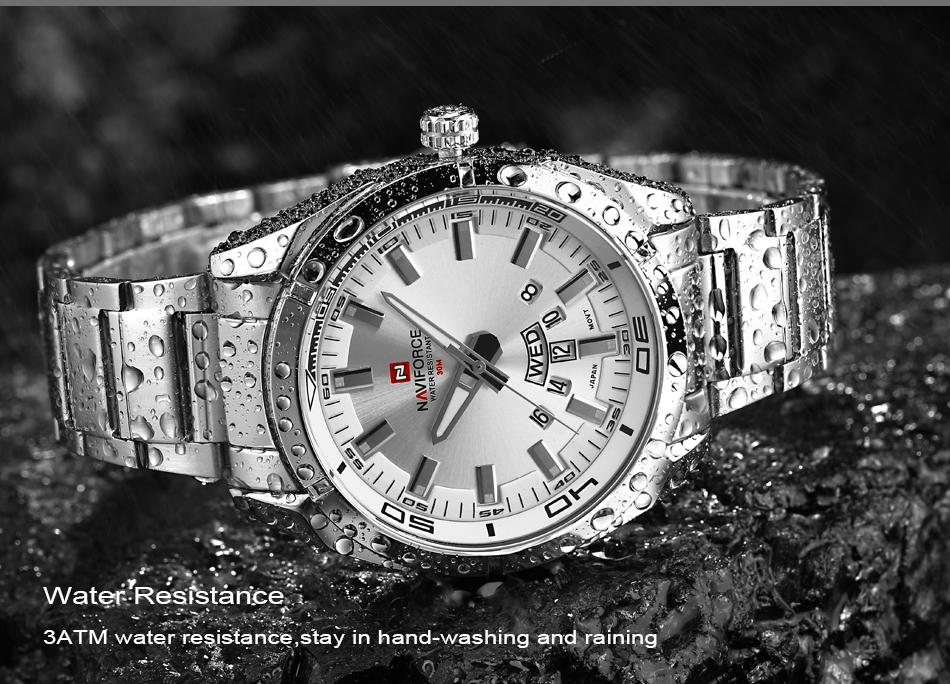 2017 NAVIFORCE Nouveau Top Marque Hommes de Montres Hommes En Acier Plein Imperméable Casual Quartz Date Horloge Mâle montre-Bracelet relogio masculino 9