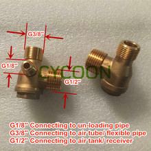 G1/2''-G3/8''-G1/8'', Brass Non-return check valve for oil-free air compressor, spare parts(China)