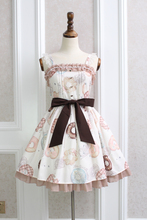 Princess sweet lolita Japanese dress Alice girl beautiful and Elegant Doughnut pattern bowknot lolita dress  QQ015