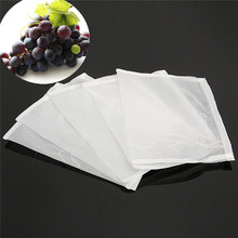 5Pcs 160 Mesh Nylon Strainer Filter Bag for Nut Milk Hops Tea Brewing Food Filtration House Home Wine Beer Making Bar Tool