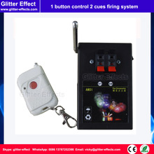 1 button remote control 2 cues Stage indoor fountain pyrotechnic Igniter Fireworks firing system machine