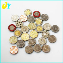 500pcs Game Tokens 25*1.85mm Stainless steel token Game Coin Arcade game machine currency(China)