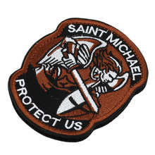 1PC Saint Micheal Badger Military Tactical Army Morale Combat Multicam Patch Clothes Backpack Badges(China)