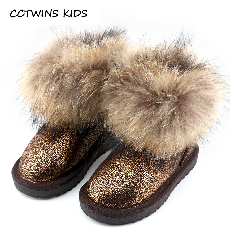 CCTWINS KIDS 2017 Winter Fashion Warm Snow Boot Toddler Genuine Leather Boot Baby Girl Brand Children Black Ankle Boot  C501<br>