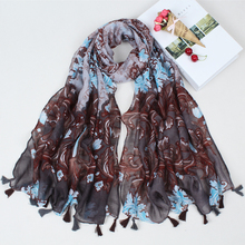 2017 New Design Winter Woman Long Tassel Scarf Scarves Geometry Floral Print Lady Big Size soft Viscose Shawls CX009(China)