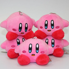 New Kirby Plush toys Standing Pose Doll 12*10cm 5pcs/lot plush key chains phone accessories pendant baby toys(China)
