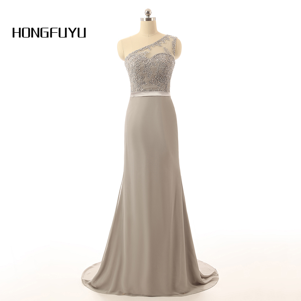 Silver long bridesmaid dresses promotion shop for promotional wholesale silver chiffon beaded lace mermaid cheap bridesmaid dresses long with sash best selling ombrellifo Image collections