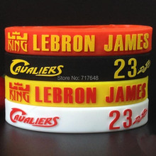 200pcs Lebron James wristband silicone bracelets 3D LOGO free shipping by FEDEX express