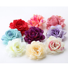 Beautiful Chinese Rose Flower Hair Accessories Hairpins Women Elegant Duckbill Clip Summer  Hair Decoration Hairclips for Dress