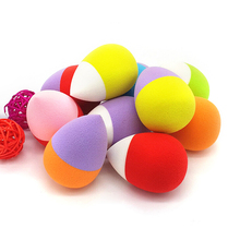 New Eggs Water Droplets Shape Unique Fragrance Tool Facial Courd Cotton Sponge Hold Beauty Makeup Make Up Cosmetic Powder Puff