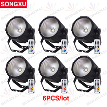 SONGXU 6pcs/lot 80W 4in1 RGBW LED Par Light COB Par Can Light with Remote Control/SX-PL0180