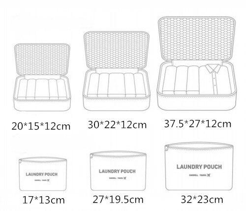 6pcs-set-Nylon-bag-packing-cube-The-large-capacity-double-zipper-women-Waterproof-bag