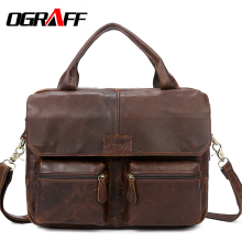 OGRAFF Handbag Men Bag Genuine Leather Briefcases Shoulder Bags Laptop Tote men Crossbody Messenger Bags Handbags designer Bag