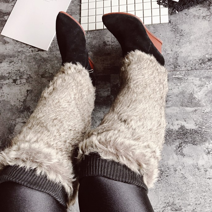 Winter Faux Fur Long Leg Warmers