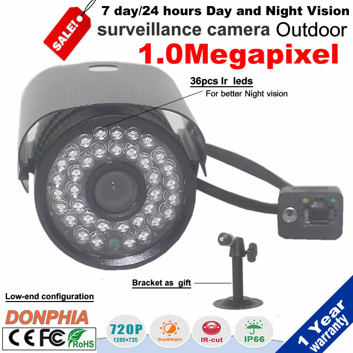 Onvif H.264 1.0MP IP Camera outdoor ir bullet 720P HD Network Camera Night Support Smartphone Remote Monitoring promotion price<br><br>Aliexpress
