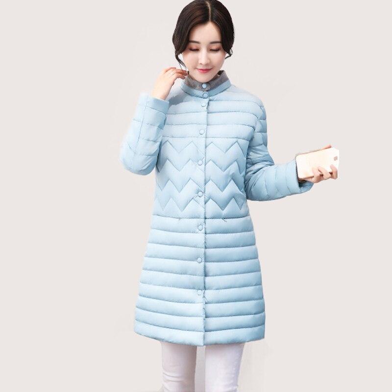 2017  Parkas Female Women Winter plus size button feather cotton Coats Down Cotton coat Winter Jacket Womens Outwear Slim coatsÎäåæäà è àêñåññóàðû<br><br>
