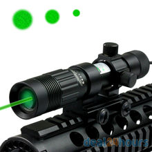 Adjustable Green Laser Sight Designator/Illuminator/Flashlight Picatinny W/Weaver Mount Free Shipping(China)