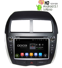Car DVD GPS Player For Mitsubishi ASX Outlander Sports RVR Android 5.1.1 Radio Stereo BT Mirror Link RK3188 Wifi 8G Map 1024*600