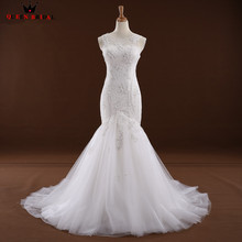 Buy Sexy Wedding Dresses Mermaid Sweetheart Tulle Lace Long Bridal Wedding Gowns 2018 New Vestido De Noiva Custom Size WD62 for $199.75 in AliExpress store