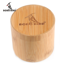 BOBO BIRD Round Bamboo Box for Watches(China)