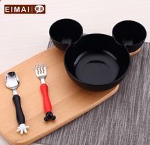 Cartoon Shape Children  Dinnerware Set  Baby  Tableware  Fork Cutlery Sets  Cartoon  Fork Set   AA55