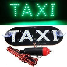 Taxi Empty Light LED Auto Green 45 LED Cab Taxi Roof Sign Light 12V Vehicle Inside Windscreen Lamp(China)