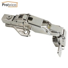 Probrico 20 Pair Soft Close Kitchen Cabinet Corner Folded Hinge 165 Degree CHWH04HA Concealed Combination Cupboard Door Hinge(China)