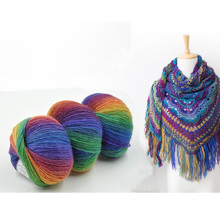 5 Balls 250g Melange Wool Yarn For Hand Knitting Colorful Crochet Yarn Wool Type Fancy Yarn Fashion Scarf/Sweater
