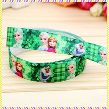 5/8'' Free shipping Fold Over Elastic FOE Saint Patrick elsa printed headband headwear hair band decoration wholesale OEM B789