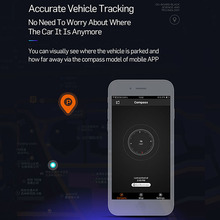 Car GPS Finding Vehicle Park Location Tracker with USB Car Charger by Mobile Phone APP(China)