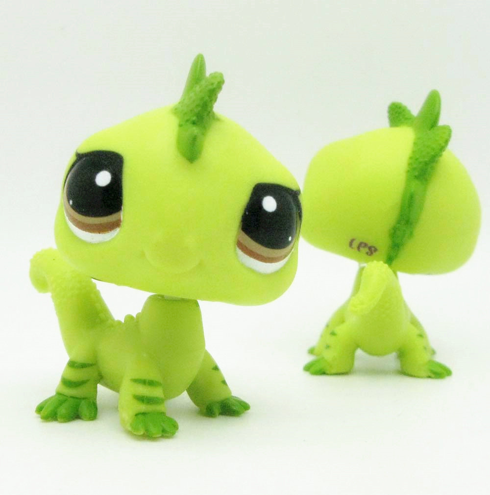 1pc LPS cute toys Lovely Pet shop animal dinosaur green action figure littlest doll<br><br>Aliexpress