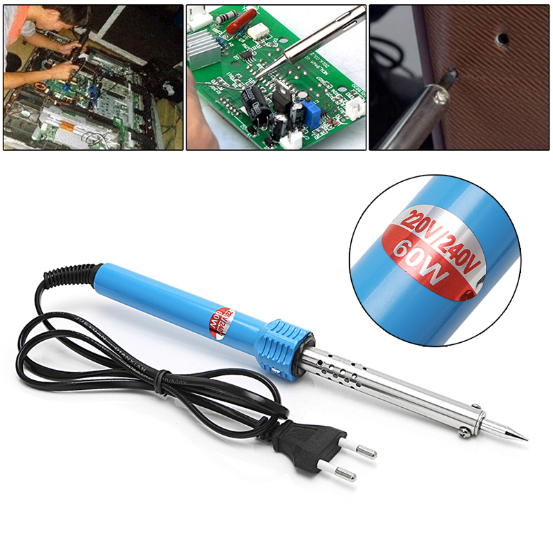 220-240V 40W/60W Electric Soldering Iron Pencil Shape Outside Thermal Welding Gun EU Plug T15