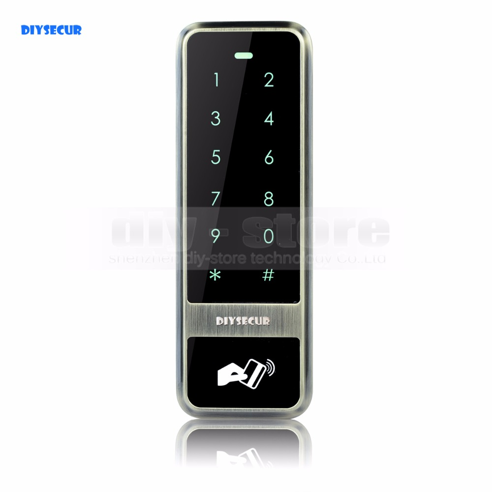 DIYSECUR Touch Keypad Password 125KHz RFID Proximity Reader Access Controller for House / Office / Home Improvement<br>