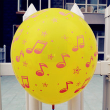 12 inch 100pcs 8th/16th music note latex balloons in event ,baby room party decoration music note balloon self sealing Globos(China)