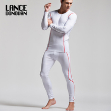 Superbody Brand Modal WINTER Men Long Johns Thermal Underwear Sets Sleepwear(China)