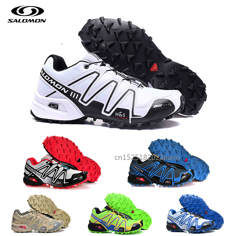 New Salomon Speed Cross 3 Sport Outdoor Men Shoes Zapatillas Speedcross CS Male Hombre Solomon Fencing Mens Running Shoes(China)