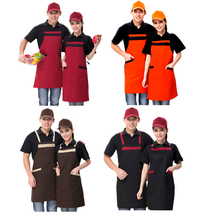 Long Style Halter Apron With Pocket Waiter Chef Aprons Sleeveless Strip Adjustable Universal Unisex Aprons Pinafore