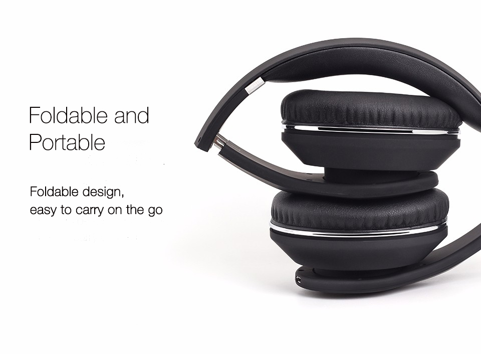 August EP640 Foldable Bluetooth Headphones for Travel