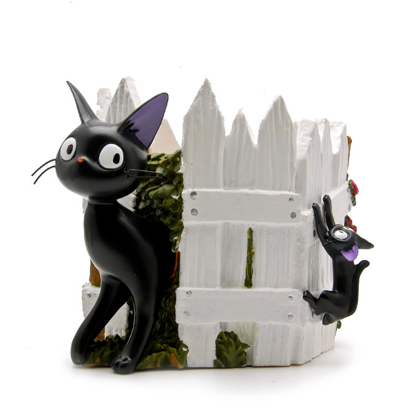 Studio Ghibli Miyazaki Anime Kikis Delivery Service Kiki Cat Resin Action Figure Toys Collection Model Toy for Garden Ornaments<br>