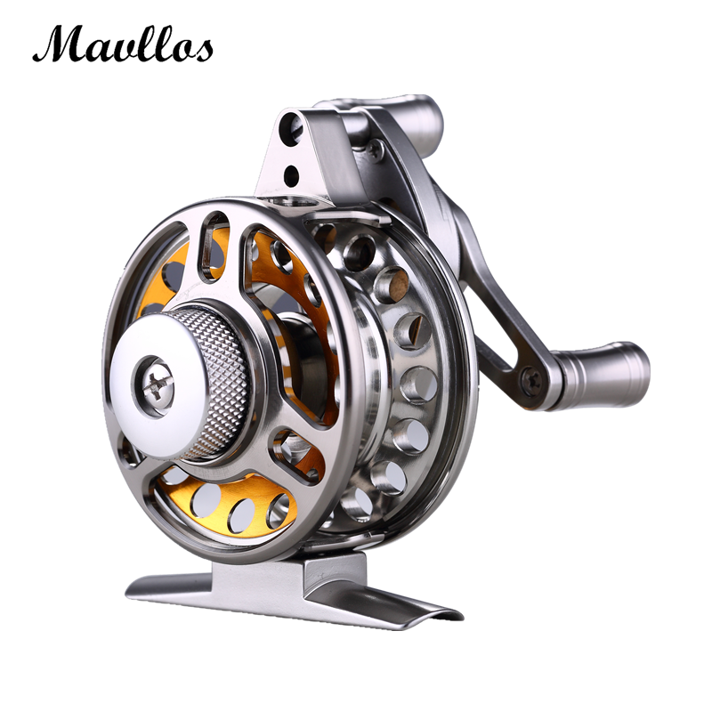 Mavllos Aluminum Alloy 3BB Fly Fishing Reel 2.2:1 Ratio Ultra Light Micro Adjusting Drag Saltwater Trolling Winter Fishing Reel<br>