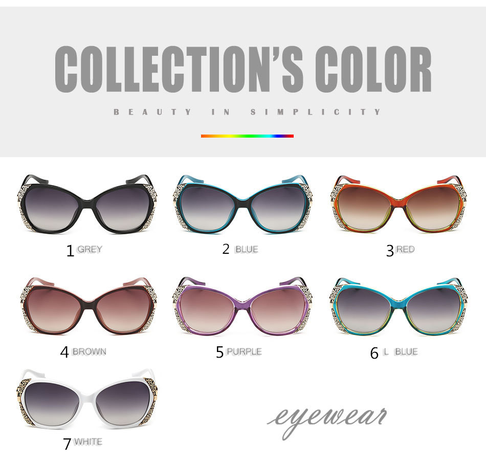 2017 new personalized glasses A74 high-grade fashion lady big sunglasses