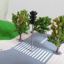 Double Side Parallel Lamps MODEL Sand Table Model Building Material Railway Train Lamp Models No 7 Style(China)