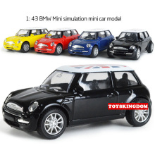 Hot 1:43 scale diecast cars British flag Edition mini cooper Volkswagen Beetle metal model pull back alloy toys for kids gifts