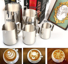 Stainless Steel Frothing Pitcher Milk Coffee Tea Jug Kitchen Thermo Cups Craft Japanese-style Espresso Steaming Frothing Pitcher(China)
