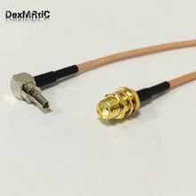 "RF SMA Switch CRC9 Pigtail Cable SMA Female Bulkhead Connector Switch CRC9 Male Right Angle Connector RG316 Cable 15cm 6""(China)"