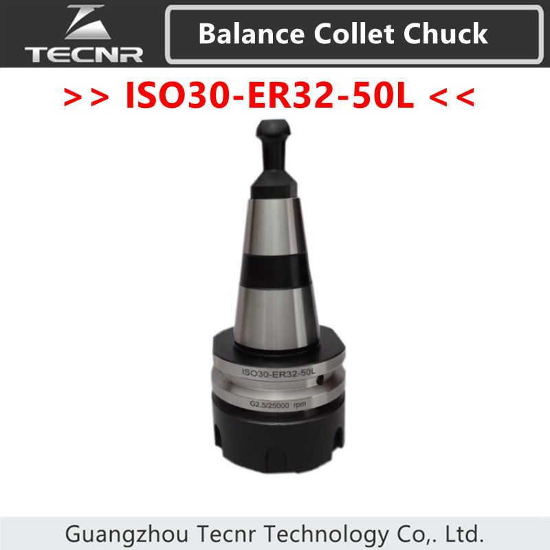 ISO30 ER32-50L Balance Collet Chuck G2.5 25000RPM CNC Tool Holder Stainless Steel With Pull Stud Milling Lathe<br>