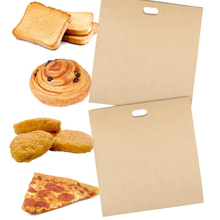 2pcs/set Hot Sale  Reusable Non-stick Toaster Bags for Grilled Cheese Sandwiches Made Easy Paper Bags