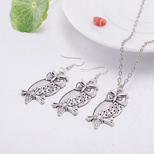 JEXXI 2017 Cheap Owl Shaped Jewelry Sets Party Women Tibetan Silver Color Chain Vintage Retro Jewellery Set Gift