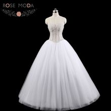 Luxury Heavily Pearl Beaded Princess Ball Gown See Through Corset Wedding Dress with Lace Up Back Vestidos de Noiva Real Photos(China)