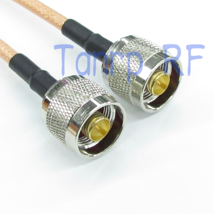 2pcs 20CM Pigtail jumper coaxial cable 8INCH N male plug to N male plug RF connector adapter  RG142 extension Cabel<br><br>Aliexpress
